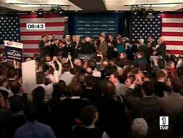 FOTO: El equipo de McCain celebra los resultados