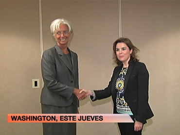 FOTO: La directora del FMI y la vicepresidenta del Gobierno