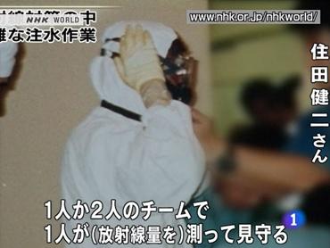 FOTO: Técnico nuclear en Fukushima